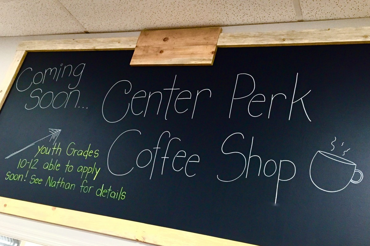 CENTER PERK Coffe Shop Coming SOON!