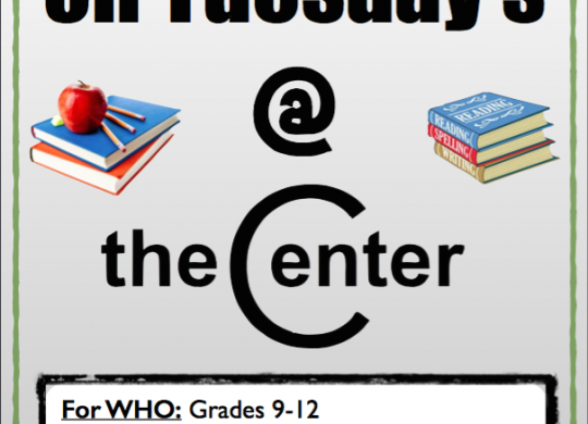 Tutoring @ The Center!