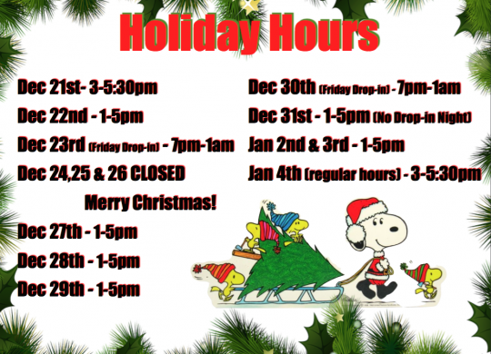 Holiday Hours!